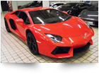 Lamborghini Aventador with paint protection film fitted