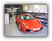 Paint protection film fitted to a Ferrari F430