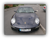 Paint protection film fitted to a Porsche 911