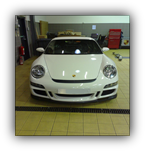 Paint protection film fitted to a Porsche GT3